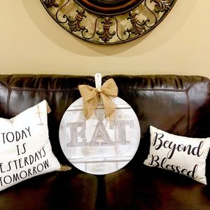 Farmhouse/Rustic Wall hanging decor-EAT